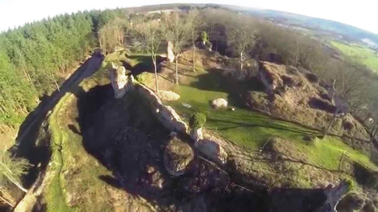 chateau drone remparts de normandie