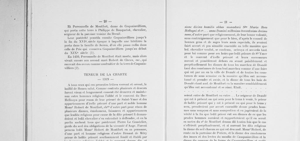 Charte inedite St Hymer 1319 suite