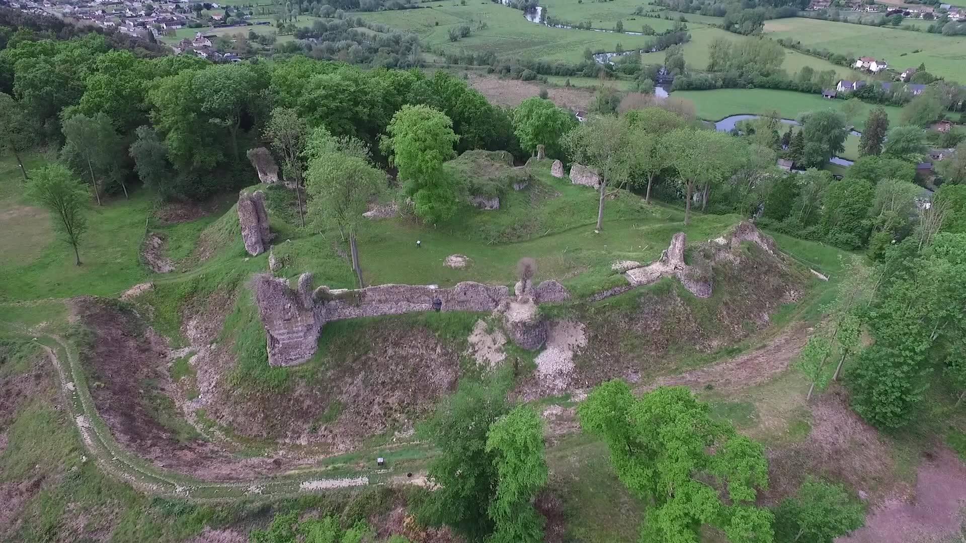 Chateau vu par Drone