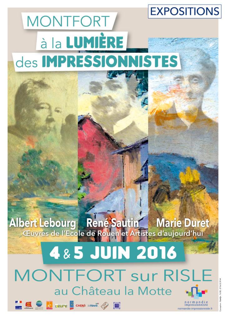 Affiche Montfort a la Lumiere des Impressionnsites