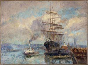 Albert Charles Lebourg Dans le port de Rouen PPP654 Petit Palais