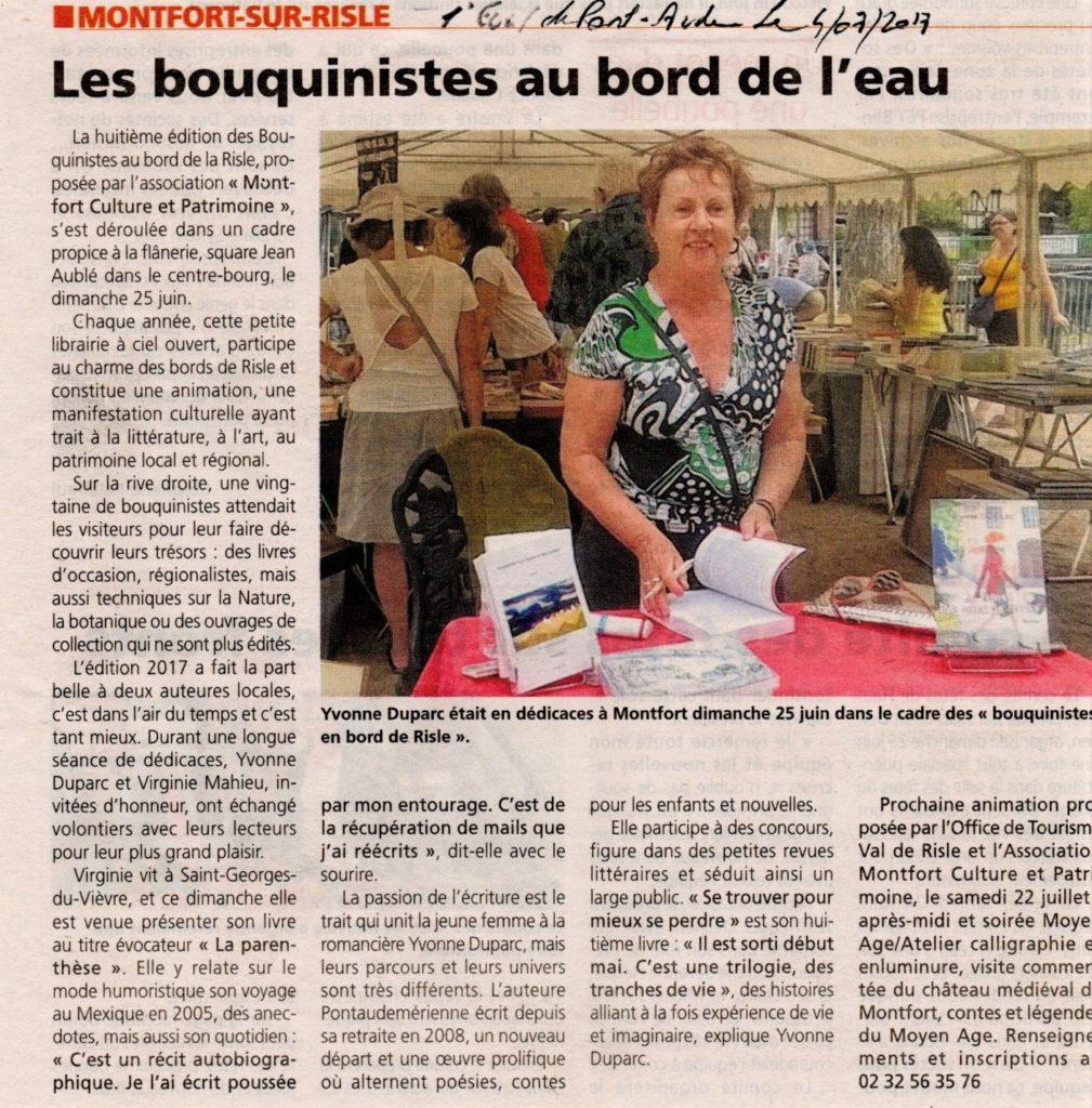 Bouquinistes Me Duparc