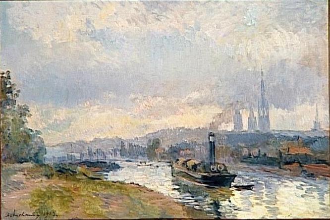Tugboats to Rouen 1903 Albert Lebourg