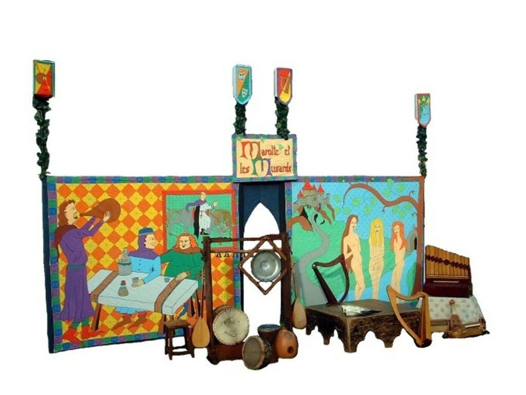 decor de theatre de Marotte et les Musards