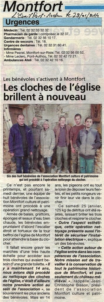 nettoyage cloches 2014
